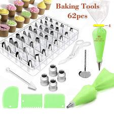 Pastry Nozzles/Converter Pastry Bag 62Pcs/Set Confectionery Nozzle Baking