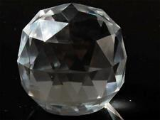 Vintage Czech hand faceted crystal glass ball Chandelier lamp prism 48mm