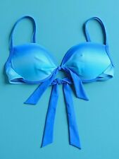 2 Bamboo Bikini Top Ombre Blue Size M NWOT New
