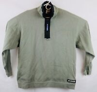 Vintage 90s COLUMBIA SPORT Mens XL Long Sleeve Half Zip Pullover Sweater Green