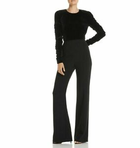Black Halo Adela Convertible Velvet Jumpsuit MSRP $435 Size 10 # 9NA 75 NEW