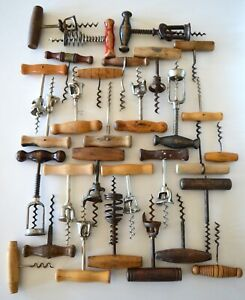 30 Wood Handle Corkscrews