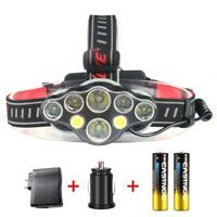 Ultra Bright ++COB USB Headlight 8000 Lumens Battery Lamp Super Bright DY