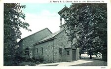 Elizabethtown, Pennsylvania, St Peter'S Catholic Church, Vintage Postcard