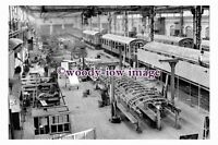 pu0328 - Railway Carriage Works , York , Yorkshire in 1954 - photograph