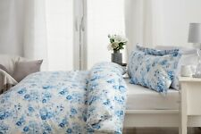 Belledorm 100% Cotton Floral Duvet Set in Blue on a White Background