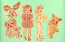 """Vintage Doll Pattern 2-934 Jointed 33"""" doll - 22"""" Bunny Rabbit Cat Dog Easy Sew"""