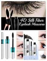 4D Silk Fiber Wimperntusche Verlängerung Make-Up Schwarz Wasserdicht Kit