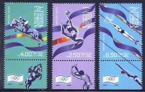 ISRAEL 2021 THE OLYMPIC GAMES TOKYO 2020 3 STAMPS MNH SPORT SWIMMING HORSE