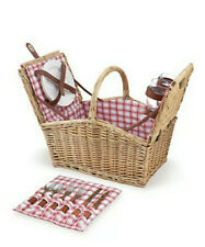 Picnic Time Piccadilly 2-Person Picnic Basket (Red & White Plaid) New Fantastic