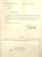 Lettera dattiloscritta su carta intestata PNF firmata Arturo Marpicati