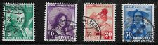 Switzerland Scott #B91-94, Singles 1938 Complete Set FVF Used