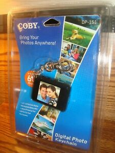 COBY Digital Photo keychain Holds up to 60 Photos USB Cable & CD PLUG & PLAY new
