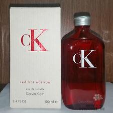 "Calvin Klein cK one ""Red Hot Edition"" Eau de Toilette 3.4 oz 100ml Very Rare!"