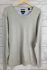 NWT Scotch & Soda Cashmere & Cotton Grey Melange Pullover Mens Sweater XL
