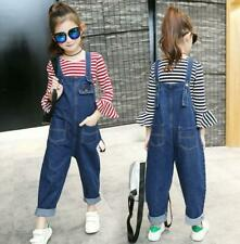 New Kids Girls Dungarees Loose Denim Jeans Harem Denim Pants Overalls Jumpsuit