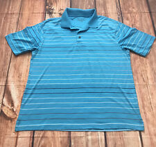Jos A Bank Short Sleeve Polo Golf Shirt Blue Striped Size XL Mens Clothing