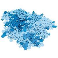 Blue Sparkle Metallic Happy Birthday Confetti Party Table Sprinkles
