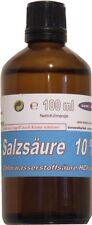 100ml 10 % Salzsäure Ph. Eur. Apothekerglas Tropfereinsatz Chlorwasserstoffsäure