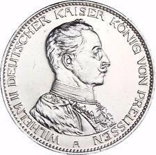Jäger 113 - Preußen - 3 Mark Silber Kaiser in Uniform 1914 Münze in Münzkapsel