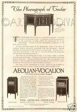 Antique 1916 Aeolian-Vocalion Phonograph ART STYLE R G K Art Nouveau Deco Ad