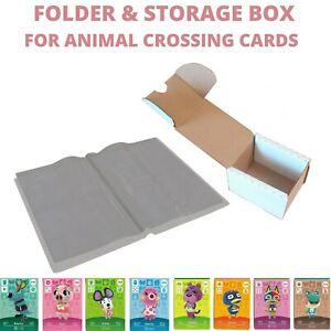ANIMAL CROSSING AMIIBO CARDS FOLDER ALBUM STORAGE BOX AND SLEEVES UK STOCK