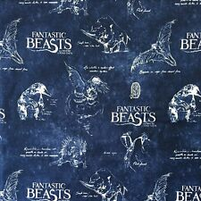 100% Cotton Fabric Fantastic Beasts And Where To Find Them - Harry Potter Range