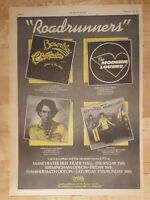 Jonathan Richman modern lovers  1977 press advert Full page 28 x 38 cm poster