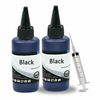 200ml Bulk Black Premium Refill Ink for All HP Canon Epson Lexmark Printers
