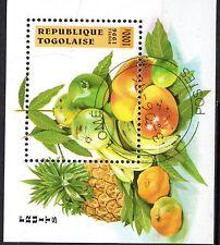 0075++ TIMBRE TOGO  BLOC  FRUITS  1996