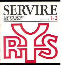 SERVIRE RIVISTA ROVER PER I GIOVANI 1966 ANNATA COMPLETA SCOUT SCOUTISMO