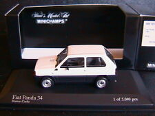 FIAT PANDA 34 1980 BIANCO CORFU MINICHAMPS 400121400 1/43 WHITE BIANCA ITALIA