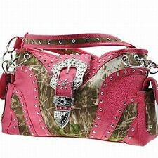 CONCEALED CARRY GUN CONCEALMENT CAMOUFLAGE & FUCHSIA PINK PURSE,  CAMO HANDBAG
