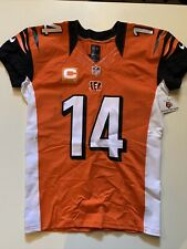 2014 Andy Dalton Game Used Worn Bengals Jersey TCU Captain's Patch V Jags 2 TD's