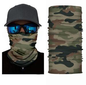Balaclava Cycling Neck Tube Scarf Snood Biker Face Mask Bandana Camo Army G