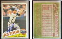 Phil Garner Signed 1985 Topps #206 Card Houston Astros Auto Autograph