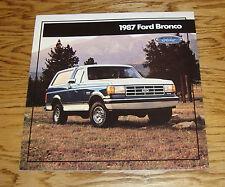 Original 1987 Ford Bronco Sales Brochure 87