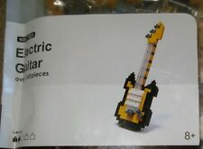 Gold Electric Guitar Nanoblock 160 Pc Miniature Building Blocks NIP NBC023