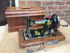Rare Jones Family Vintage Sewing Machine With attachments, vintage Home Decor,