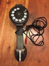 Vintage BECO Linesman Rotary TELEPHONE Phone Tester with Clips Black (KC)