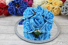 1 Bunch Colourfast Foam Rose Wedding Artificial 6 Flowers 5cm No Additional Post Turquoise