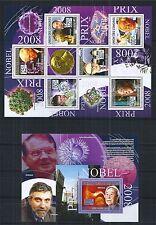 COMORES KOMOREN 2009 SET MiNr: 2266 - 71 BLOCK 496 ** NOBEL PRIZE LAUREATES 2008