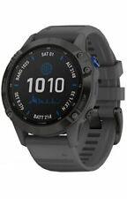 Garmin fēnix 6 Pro Solar Edition 47mm Cassa in Acciaio Grigia, Cinturino in Silicone, GPS Smartwatch - (010-02410-11)