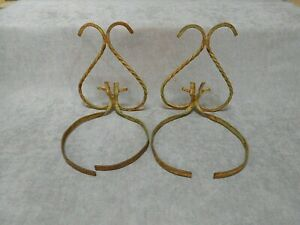 2 VINTAGE iron French Wall hanging POT planters supports Shelfs