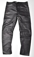 G-Star Raw Lederhose, Afrojack A Crotch LEATHER Tapered w34 l34 NUOVO!!!
