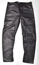 G-STAR RAW Lederhose - Afrojack A Crotch Leather Tapered W31 L32 Neu !!!