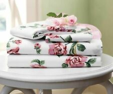 Twin Pink Rose Garden Springtime Floral Microfiber Sheet Set Summer Floral Sheet