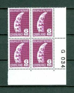 Greenland. 1 Mnh 1978  4-Plate Block  # G 034  6 Kr Tupilak.  Engraver Cz Slania