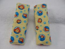 Baby Car Seat Belt Strap Covers Highchair Stroller Pram - Paddington Bear Aqua
