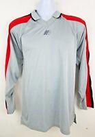 NEW Balance Airtek Performance 90s Gray Long Sleeve Pullover Men's Shirt Sz L